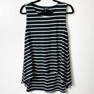 The Limited Striped Black White Sleeveless…
